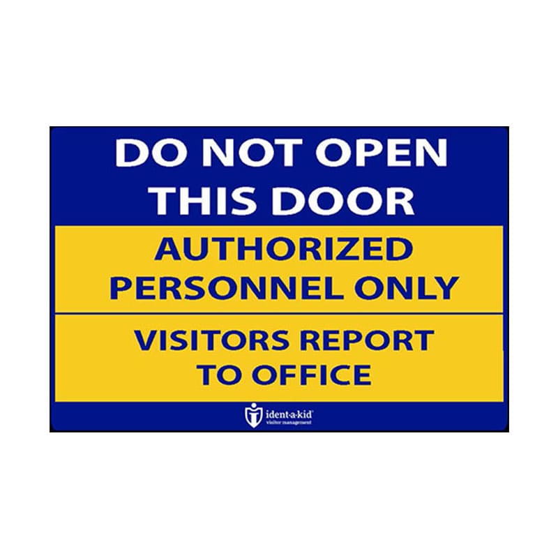 Do Not Open Door Stickers
