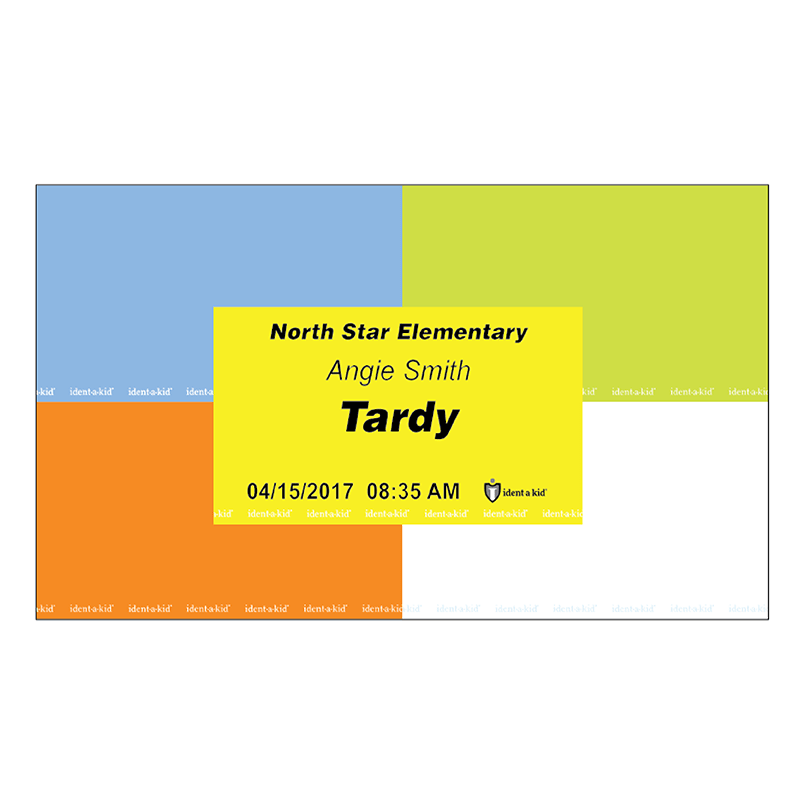 *Ident-A-Kid Tardy Pass/Slip Roll