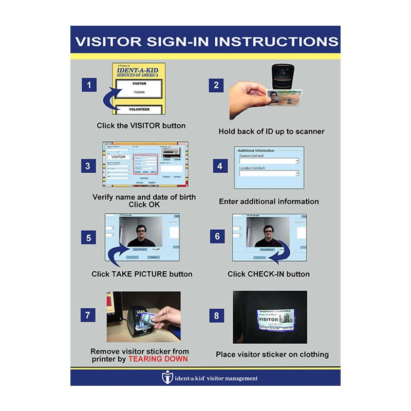 Visitor Check In Sign