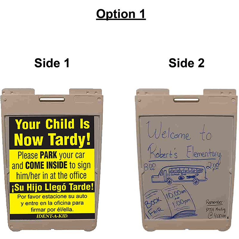 Custom Tardy Sign