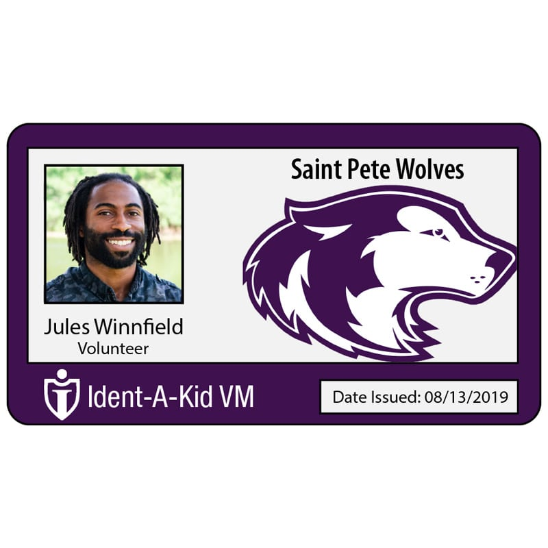 Custom Staff RFID Badges w/ Photo and Logo – Ident-A-Kid Visitor Management  Software